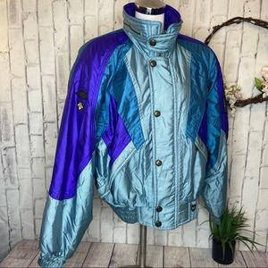 VTG 80's blue metallic Descente ski jacket Lg